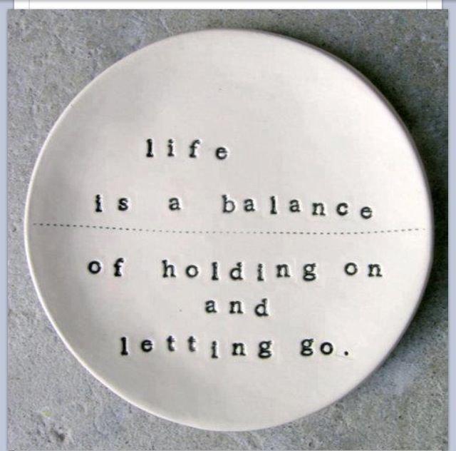 life is a balance...