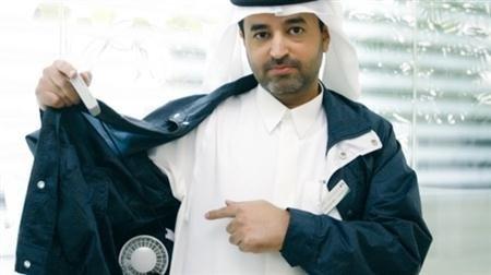 آخر الصرعات .... ملابس مُكيفة للموظفين الميدانيين في #دبي #الامارات