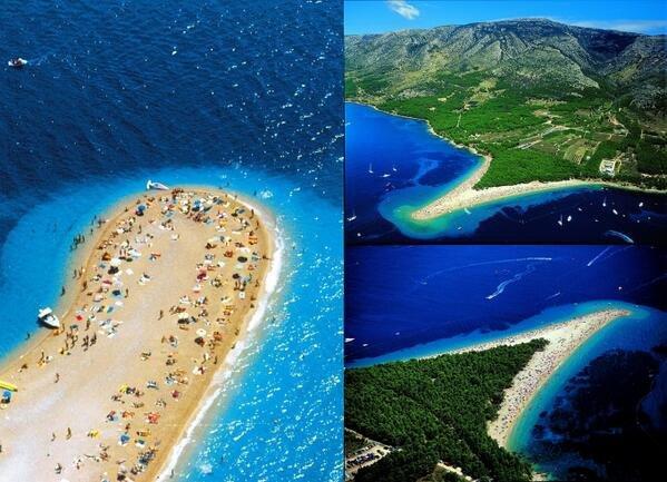 شاطئ جزيرة براك Beach Brac في كرواتيا