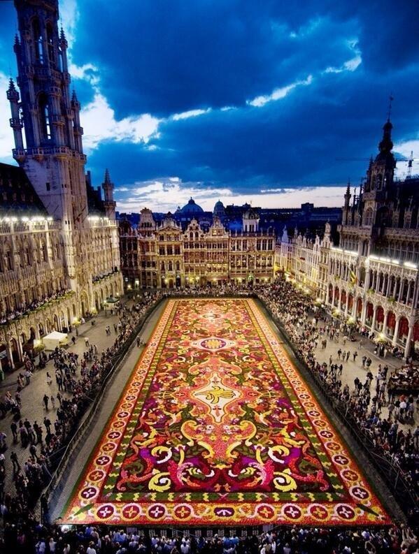 The carpet of flowers, Brussels, Belgium