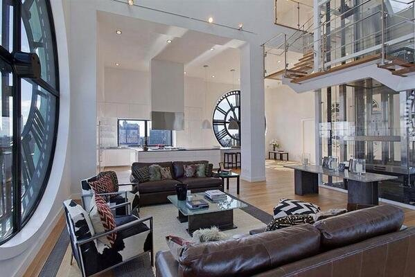 Most expensive apartment in Brooklyn, NY. Converted from an old clock tower