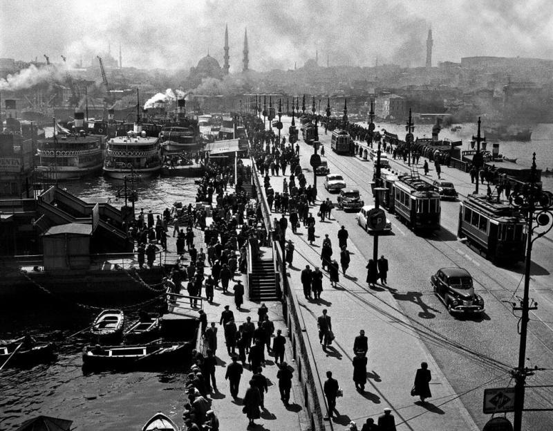 Galata Bridge, Istanbul, 1954