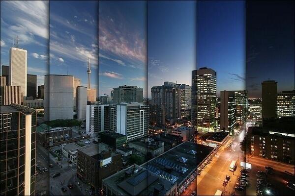 6 photos in a 2 hour timeframe of Toronto
