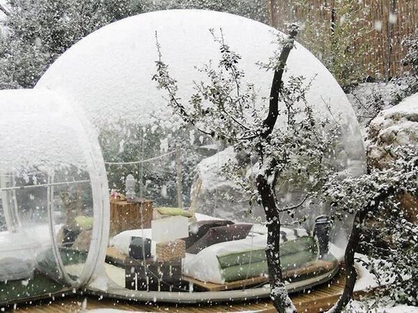 فندق الفقاعة يتيح لك النوم مع الطبيعة - عجائب الفنادق في فرنسا