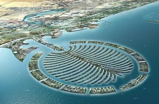 جزيرة نخلة جميرا وشاطئها في #دبي