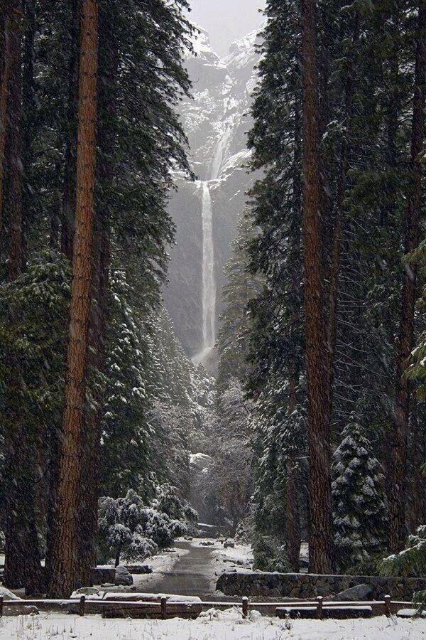 Lower Falls, Yosemite, California.