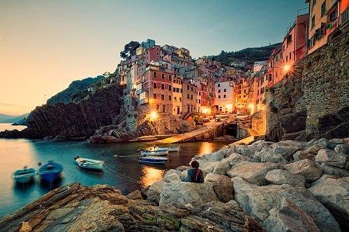 Sunset, Riomaggiore, Italy