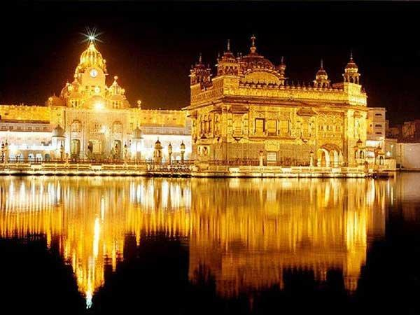 The golden temple at Amritsar is an important place for worship for the sikhs #India