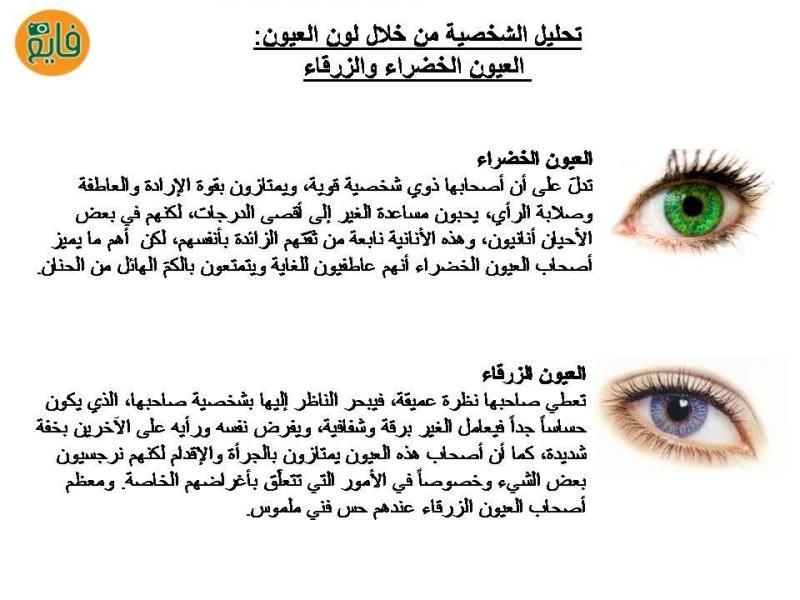 تحليل الشخصية حسب لون العيون: الأزرق والأخضر