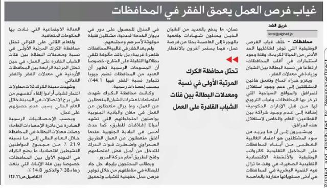 الفقر في #الكرك #الأردن