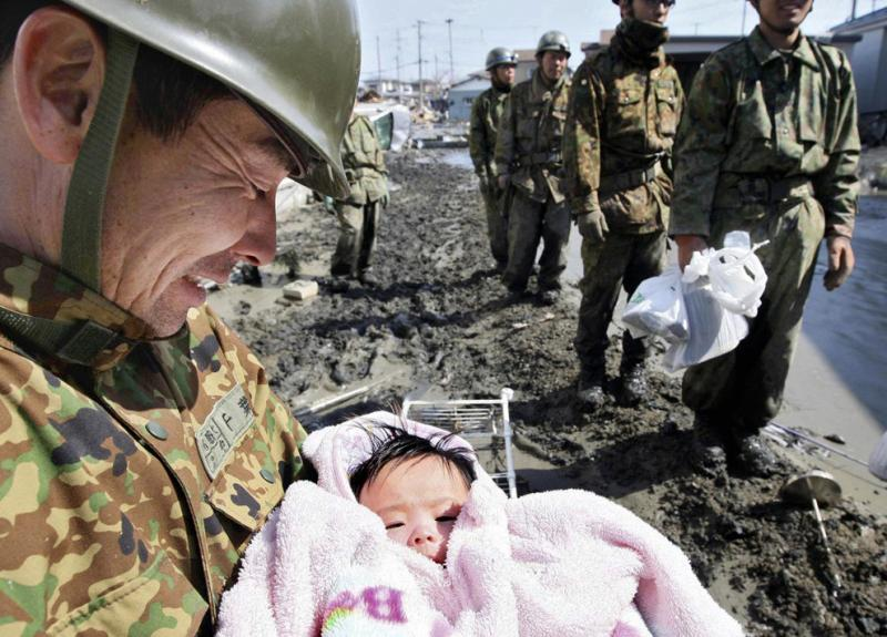 A 4-month-old baby girl is miraculously rescued following the Japanese tsunami