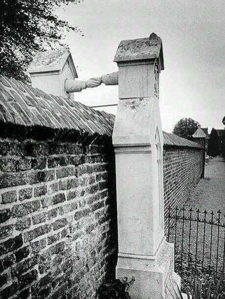 Graves of a Catholic woman and her Protestant husband, ..