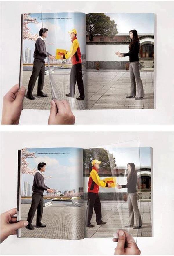 إعلان مميز لشركة التوصيل #DHL
