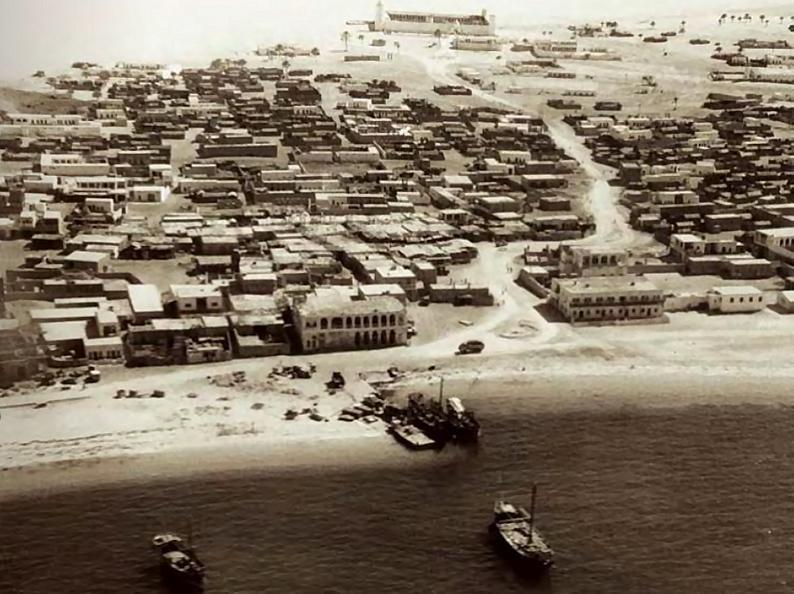 مدينة #أبوظبي سنة 1960 #تاريخ