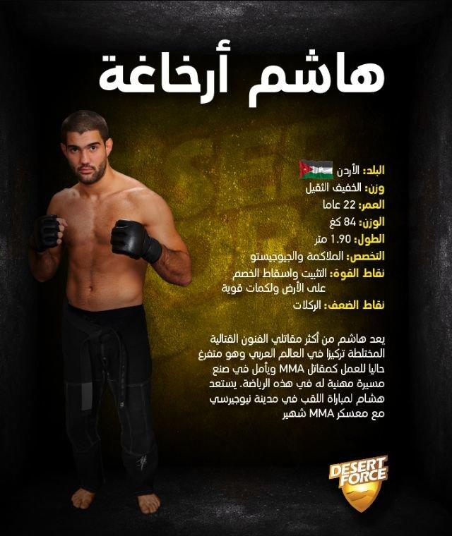 هاشم ارخاغا الأردني يفوز ببطولة desert force للفنون القتالية ويتوج بطلا للعرب #الأردن