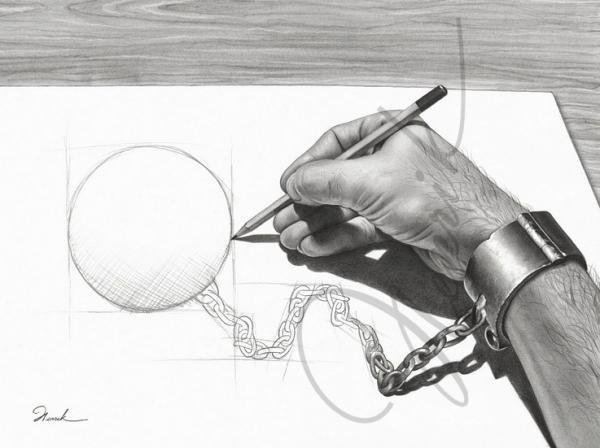 لوحات فنية بقلم الرصاص #Pencil_Sketch #فن - 5