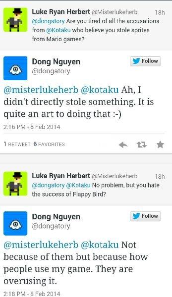 Flappy bird creator is taking it down