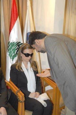 زوجة الحسن ترفض تعازي السفير الإيراني #لبنان #إيران
