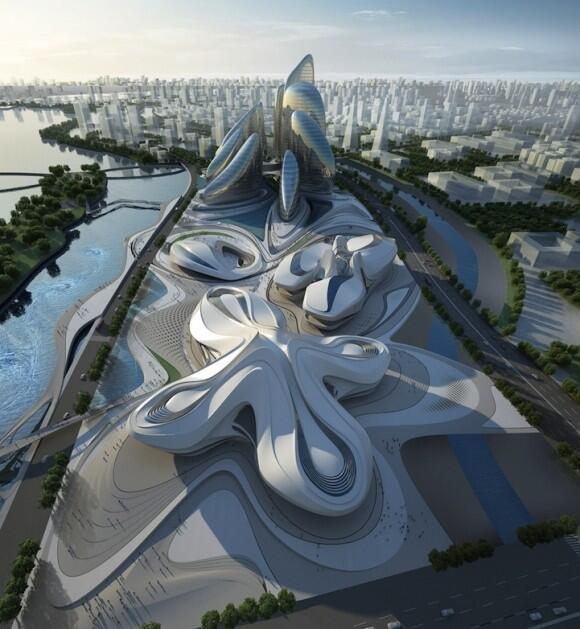 """مركز الثقافة الياباني الجديد من تصميم العملاقة \""""زها حديد\"""""""
