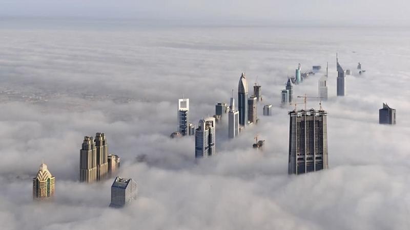 The #Dubai Skyline Cloud City