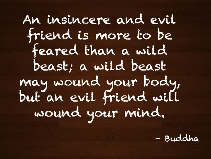 An evil friend is more to be feared than a wild beast