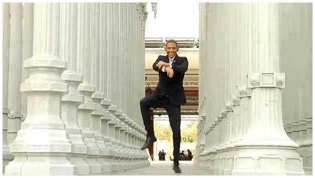 #أوباما يرقص على غنغنام ستايل