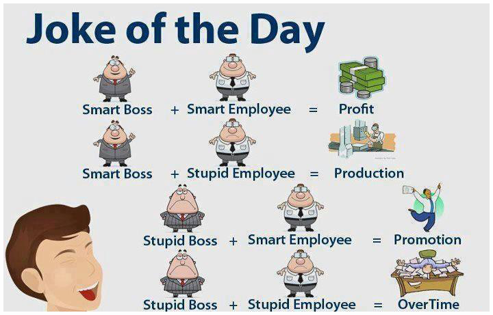 Joke of the day: About Bosses & Employees