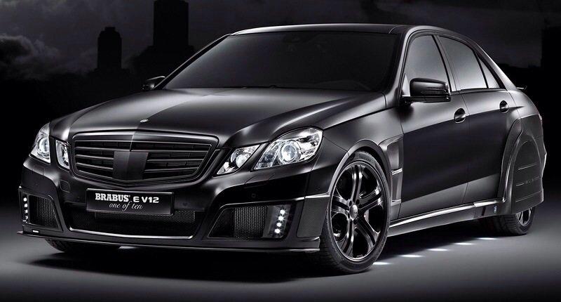 Mercedes-Benz Brabus E V12 Black Baron - front shot