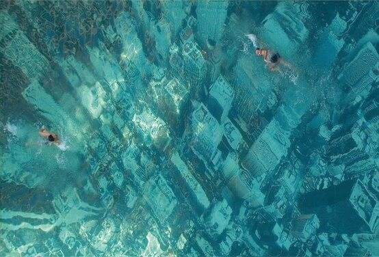 A pool in Mumbai that looks like Manhattan flooded to raise awareness of climate change