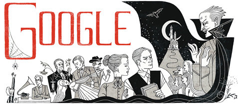 Googles doodle today: Dracula