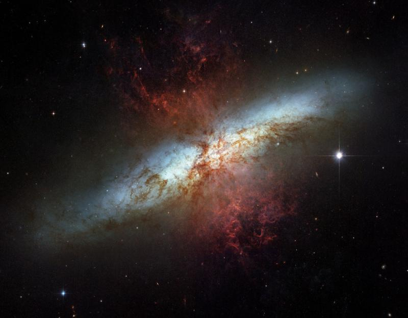 The magnificent starburst galaxy Messier 82 - space