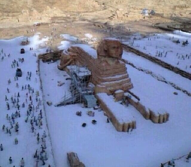 Egypt Snow first time in 122 Years