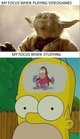التركيز اثناء العاب الفيديو و اثناء الدراسة