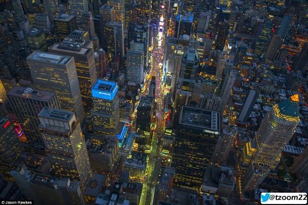 #صورة جوية لمدينة #نيويورك كأنها لوحة فنية متميزة