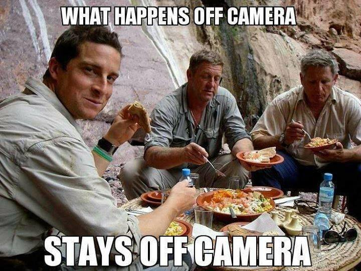 What happens off camera stays OFF CAMERA