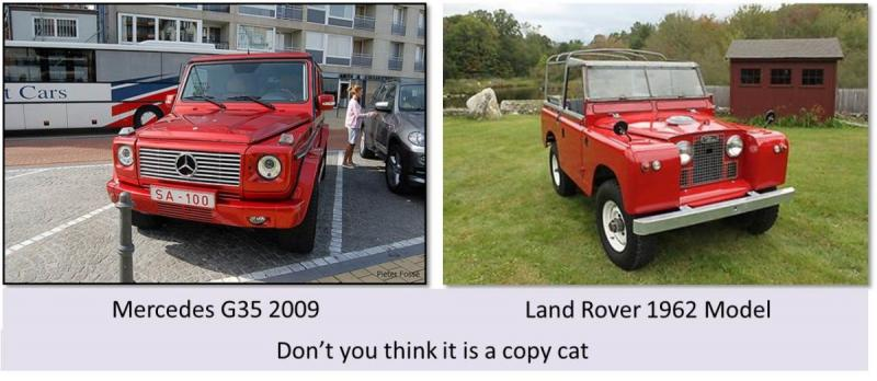 Dont you think that #Mercedes G45 is a copy of the #Landrover 1956