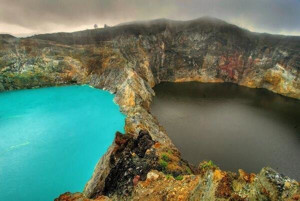 The Lakes of Evil Spirits, Mount Kelimutu, Indonesia. These change Colors