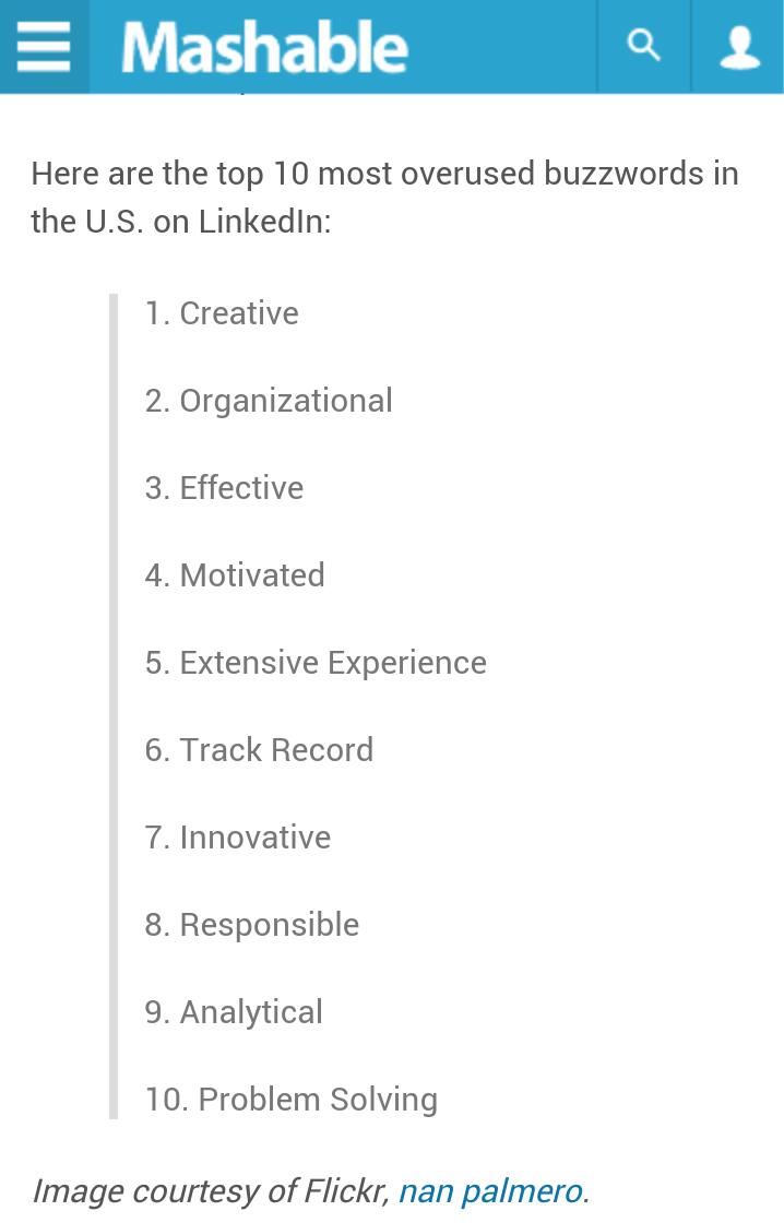 The 10 Most Overused #LinkedIn Profile Buzzwords