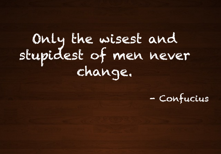 Who's the man who doesn't change?