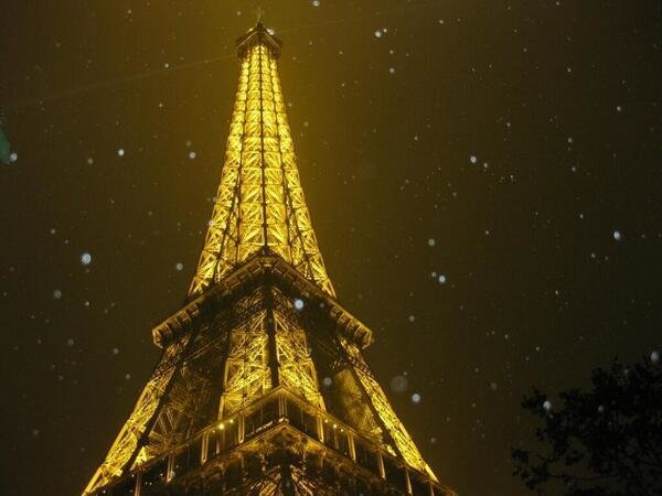 The Eiffel Tower at night, Paris