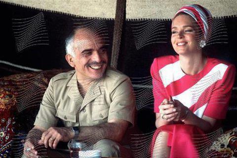جلالة #الملك_حسين رحمه الله مع الملكة نور #الأردن