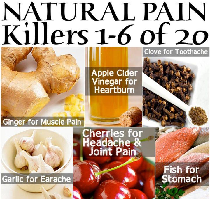 6 natural pain killers
