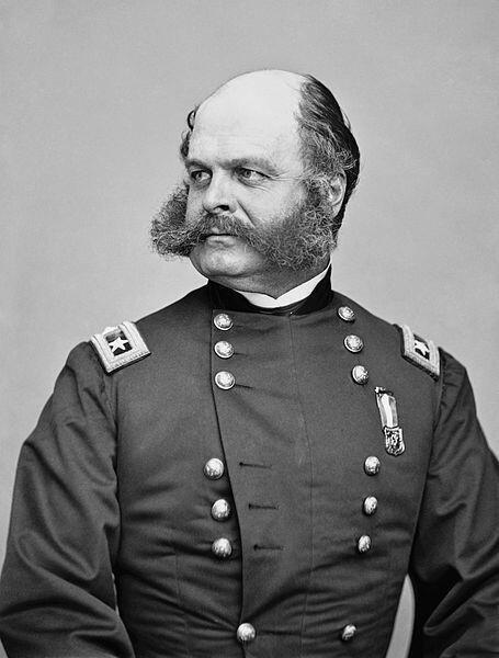 Civil War general Burnside. The term 'sideburns' is a 19th-century corruption of his last name