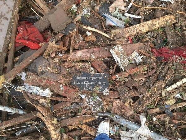 Someone captured this photo while going through the rubble in Oklahoma. Beautiful reminder