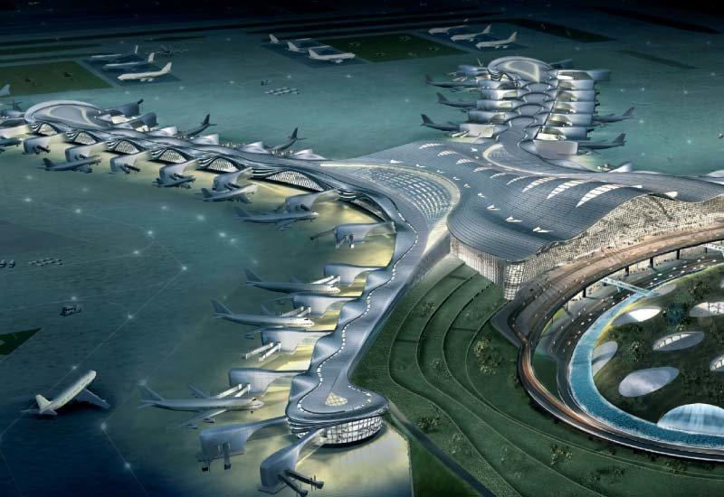 مبنى مطار #أبوظبي الجديد