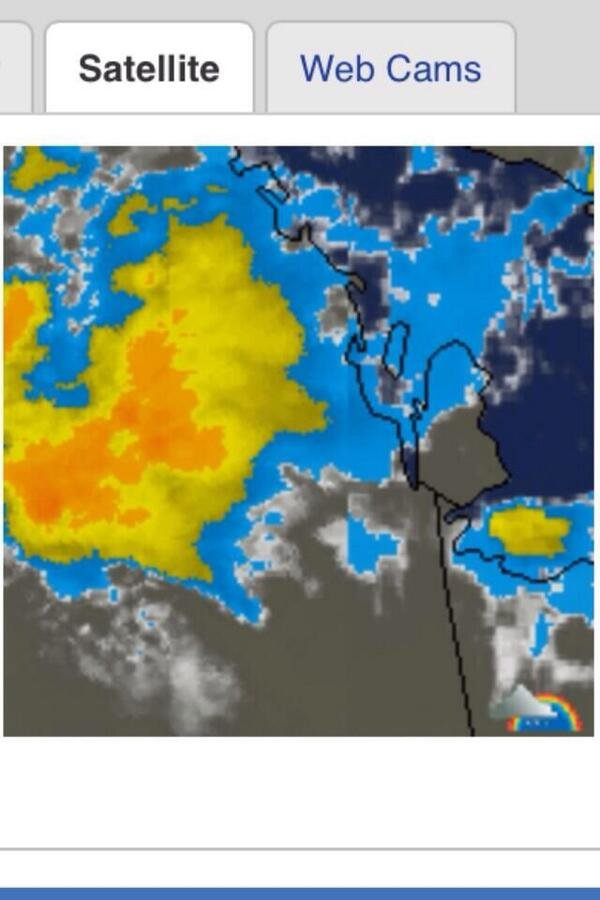 صوره للأقمار الصناعيه السحابه التي أغرقت الرياض تتجه للشرقيه #أمطار_الرياض