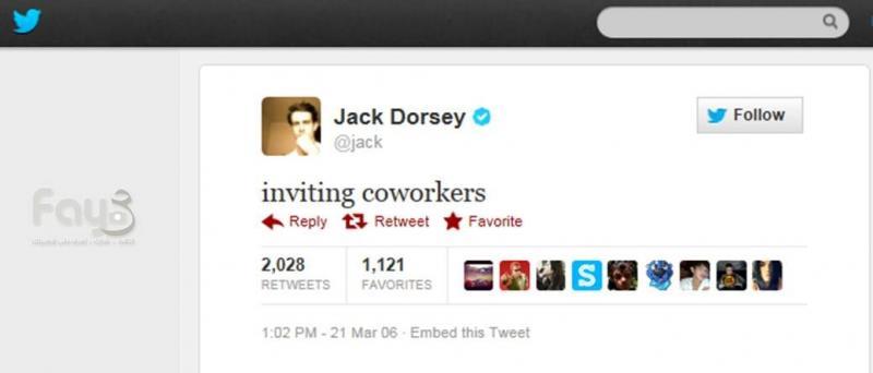 أول تغريدة على موقع #تويتر