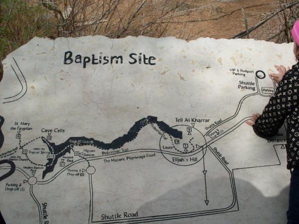 خريطة المغطس في #الأغوار #الأردن