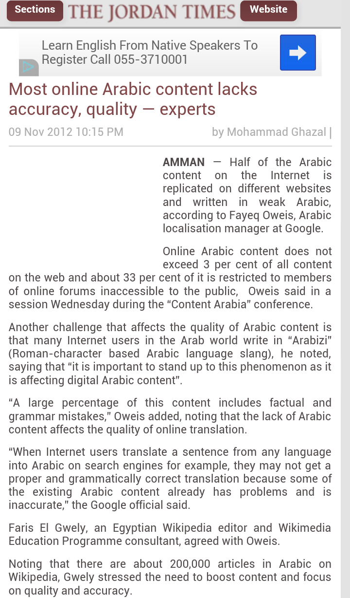 Most online Arabic content lacks accuracy, quality — experts