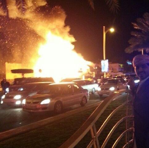حريق في مطعم الشاليه في جميرا #دبي